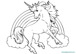 Cute Unicorn Coloring Pages Printable Page Baby Of