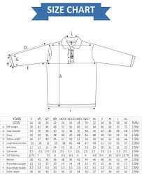 Polo Shirt Full Sleeves Size Chart Professional Uniform