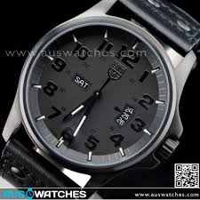 buy luminox field day date black out sapphire black leather mens luminox field day date black out sapphire black leather mens watch 1879bo
