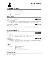Resume Format Application Download Resume Format For Job Application Pdf Freshers Samples Form