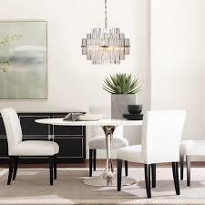 vienna 22 round crystal chandelier polished nickel