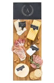 cathy s concepts monogram acacia wood cheese board