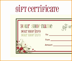 50 Unique Powerpoint Gift Certificate Template Powerpoint
