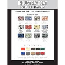 Garage Guard Color Chart Industra Coat Paint Chips 1 Pound