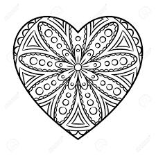 Coloriage De Mandala En Coeur