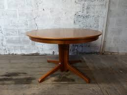 danish teak round and extending dining table midcentury retro