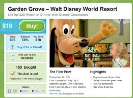 disney character dinner deal at wdw swan dolphin resort via groupon