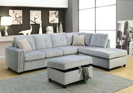 tufted trim right facing sectional sofa grey nailhead gray sectional sofa gray with trim for lovely office