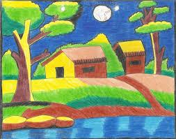 kid drawing landscape google zoeken kijkdozen