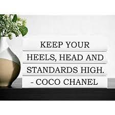 fashion designer decorative quote books
