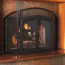 excellent fireplace screens with doors 3 panel wrought iron fireplace screen with doors source