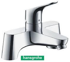 hansgrohe tradesense 31523000 focus low pressure deck mounted bath filler mixer tap chrome 2th
