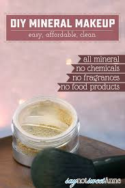 diy all mineral makeup using high quality minerals no fillers no food s