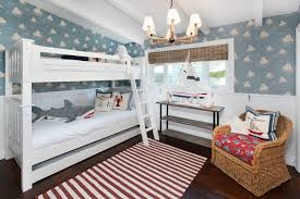 bunk bed lighting ideas kids tropical with white window trim white ceiling beams wicker armchair bunk bed lighting ideas