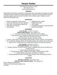 Restaurant Experience Resume Beautiful Mcdonalds Work Experience