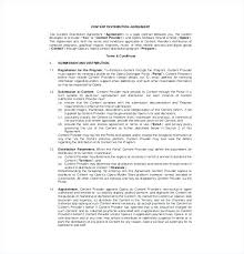 Product Distribution Agreement Template Images Letter Format