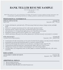 Bank Teller Resume Sample No Experience Outstanding Entry Level Bank