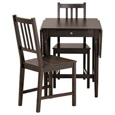 attractive ingatorp stefan table and 2 chairs black brown 59 cm ikea two chair dining