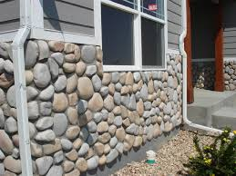 stone veneer river rock gallery intended for faux ideas 5