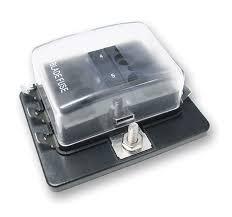 fuse holder ovatium acirc cent  mini atm fuse block 6 position clear cover