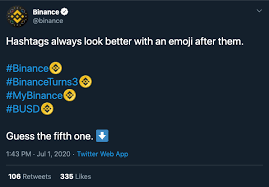 The company announced the launch of the app on twitter. Binance Gets The Third Ever Crypto Emoji On Twitter Following Crypto Com And Bitcoin Cryptoslate