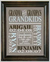 grandpa gifts personalized print with names and pletely gift grandpas homemade