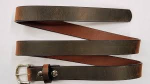 distressed leather belt brown 1 1 4 wide