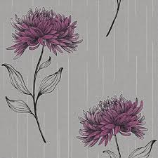Purple Wallpaper For Bedroom Fine Der Amelia Floral Wallpaper Purple Silver Purple Wallpaper