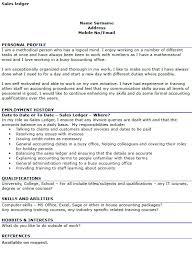 Ledger Example Sales Ledger Cv Example Icover Org Uk