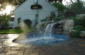 inground pools with waterfalls and hot tubs. Astonishing Ideas Inground Hot Tub Terrific 1000 Images About Spa On Pinterest Pools With Waterfalls And Tubs O