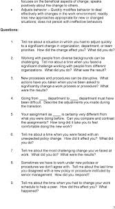 behavioral situational interview question bank table of contents questions 1 tell me about a situation in which you had
