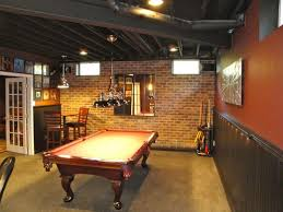 Man Cave Basement Designs  Ideas About Basement Man Caves On - Unfinished basement man cave ideas