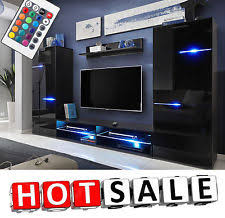 wall furniture for living room. TV Unit Cabinet Living Room Set Wall Shelf Furniture Cupboard Modern Stand LED For A