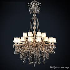 led antique hotel church chandelier crystal lighting vintage black smoke crystal chandelier with lampshade large foyer pendant light res church