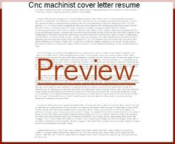 Sample Machinist Resumes Machinist Cover Letter Machinist Cover Letter Resume Listed Most