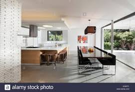 Modern Kitchen Living Room Modern White Open Plan Kitchen And Living Room Extension With