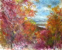 """Pikes Peak Autumn: McGregor,Iowa"""" Oil color and pastel on paper 8 ..."""