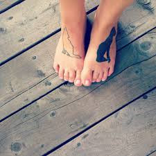 My Feet Tattoos Bastet The Cat God And A Wolf Silhouette Imgur
