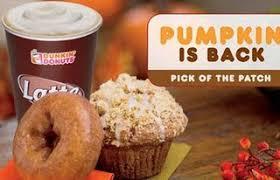 dunkin donuts pumpkin is back