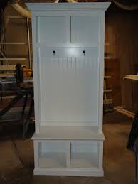 Beadboard Entryway Coat Rack 100 Wide Beadboard Hall Tree with 100 upper lower Storage 3