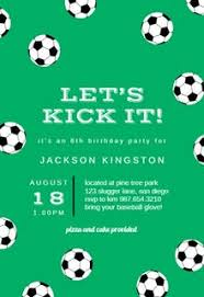 Soccer Party Invitations Sports Games Invitation Templates Free Greetings Island