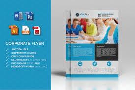 Microsoft Brochure Template Corporate Flyer MS Word Flyer Templates Creative Market 16