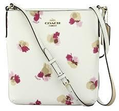 Coach Women s Field Flora Print Coated Canvas North South Crossbody Handbag,  Style F59848, Im
