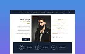 40 Best HTML Resume Templates For Awesome Personal Websites 2040 Delectable Personal Resume Website