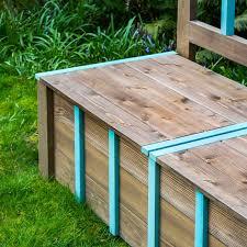 storage bench lid with decorative trim