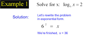 6 solution let s rewrite the problem in exponential form we re finished x 36