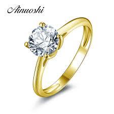 2019 <b>Ainuoshi 10k Solid Yellow</b> Gold Wedding Ring 1.25 Ct ...