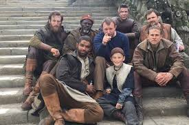 craig back left with guy ritchie and members of the cast of knights of the round table king arthur
