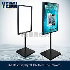 Menu Display Stands Restaurant YEON heavy outdoor floor menu board black poster stand holder for 72