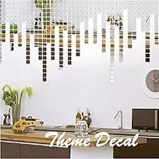 Small Picture Amazoncom Creative Luxury 100pcs 2x2cm Fashion Silver 3D Mirror